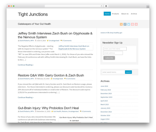 Theme WordPress WP-Brilliance - tightjunctions.com