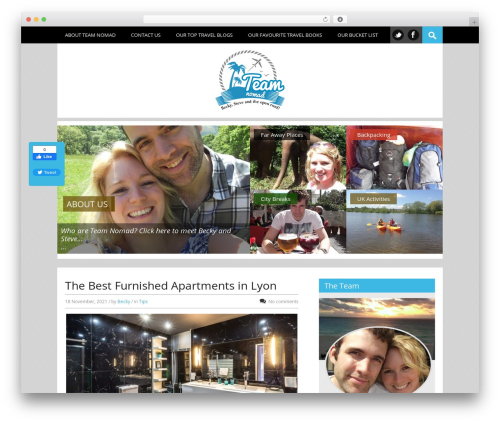 Top WordPress travel theme - teamnomad.co.uk