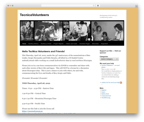 Free WordPress CMS Navigation plugin - tecnicavolunteers.org