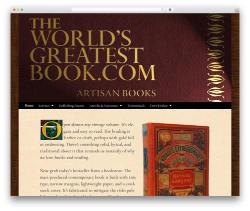 Free WordPress Hyphenator plugin - theworldsgreatestbook.com