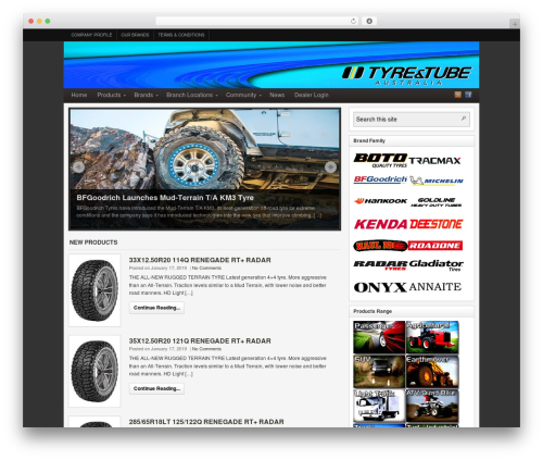 WordPress theme Arras - tyreandtubeaust.com.au