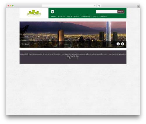 WordPress theme Yasmin - tucondominio.cl
