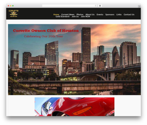 cherry theme WordPress - corvetteownersclubhouston.com