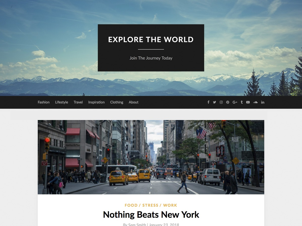 ElegantWriting business WordPress theme