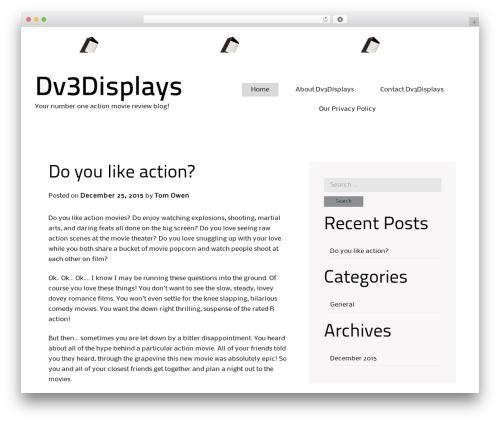 Alexandria WordPress theme - dv3displays.com