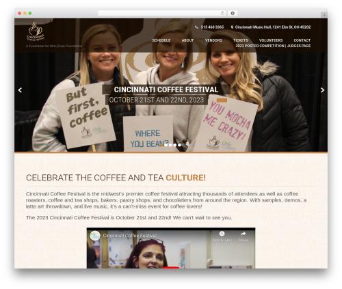 Coffee Pro template WordPress - cincinnaticoffeefestival.com