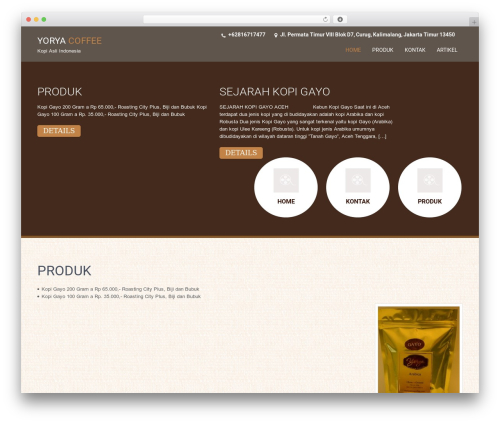 SKT Coffee free WordPress theme - yoryacoffee.com