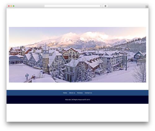 Smartr WordPress website template - telluridemaps.com