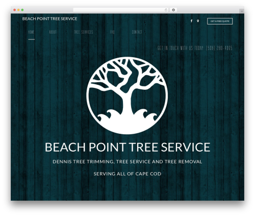 Arborist 2 - V8 theme WordPress - beachpointtree.com