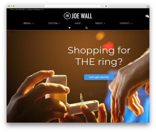 Avada WordPress ecommerce template - joewalldesign.com