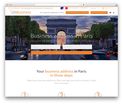 Avada WordPress template for business - paris-business-address.com