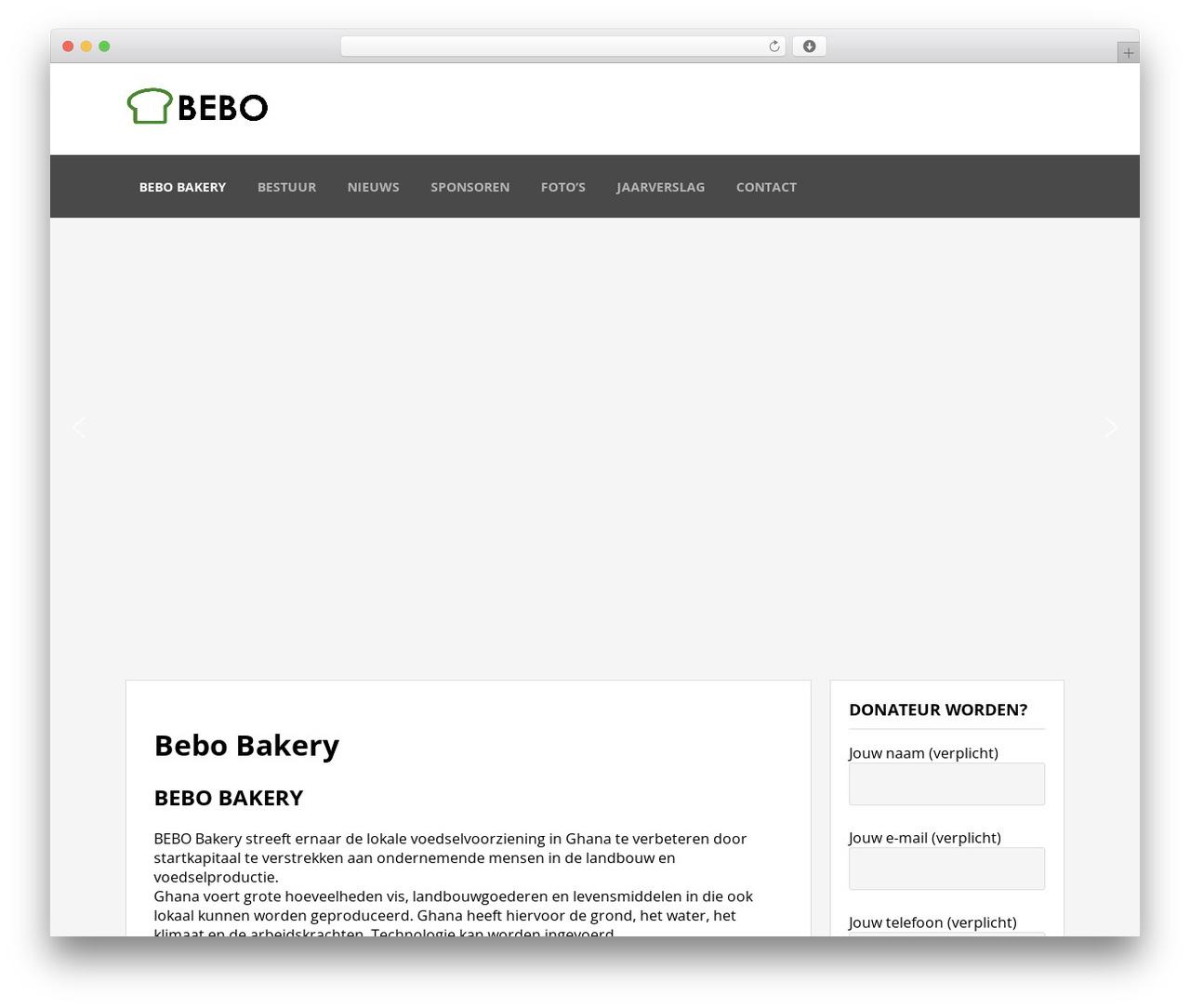 BEBO theme WordPress - bebobakery.com