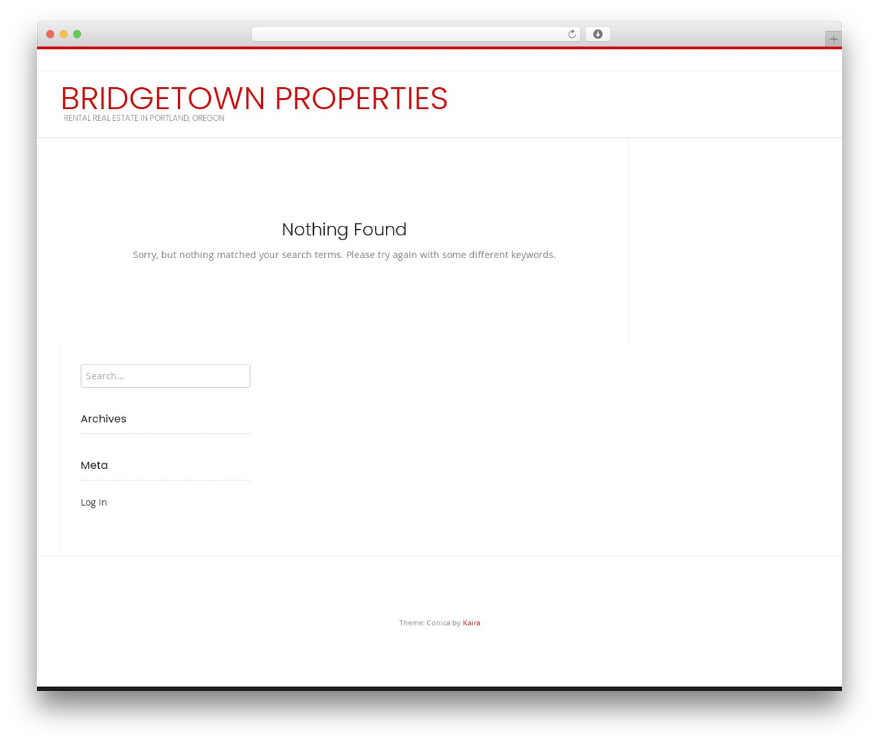 Conica template WordPress free - bridgetownproperties.com