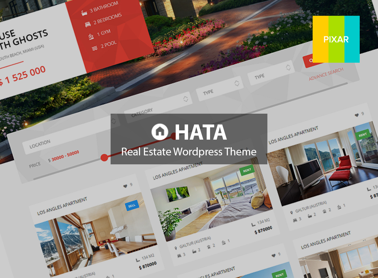 HATA - Child Theme real estate WordPress theme