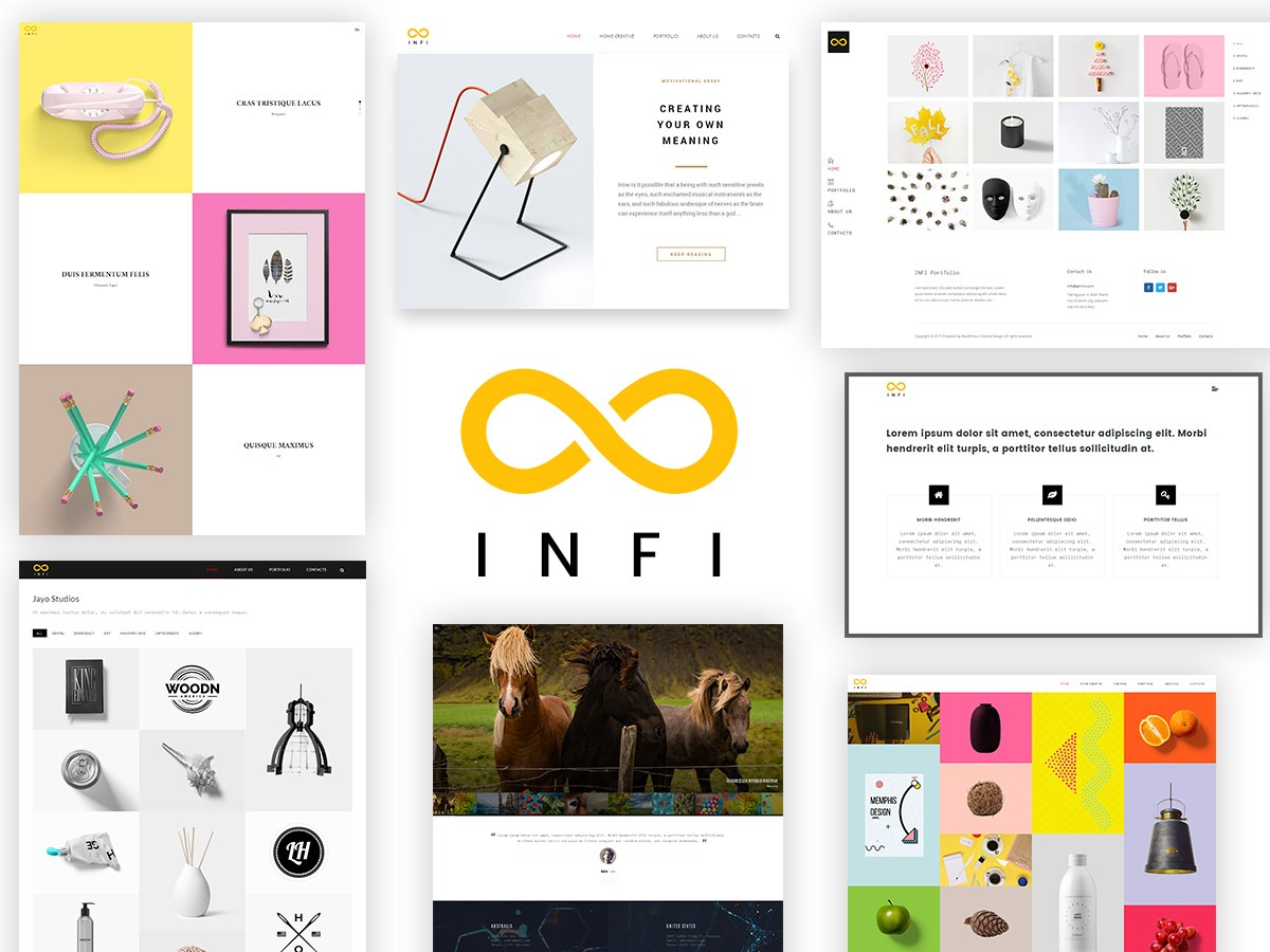 Infi Child best portfolio WordPress theme