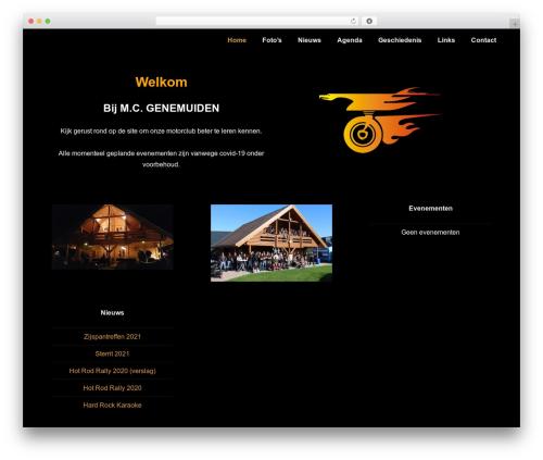 Responsive premium WordPress theme - mcgenemuiden.com