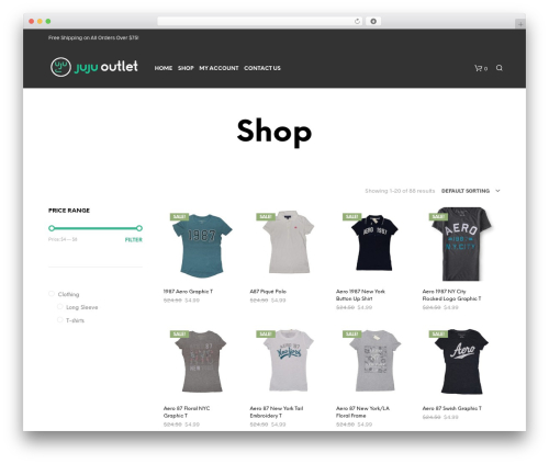 Shopkeeper - shared on wplocker.com WordPress shop theme - jujuoutlet.com