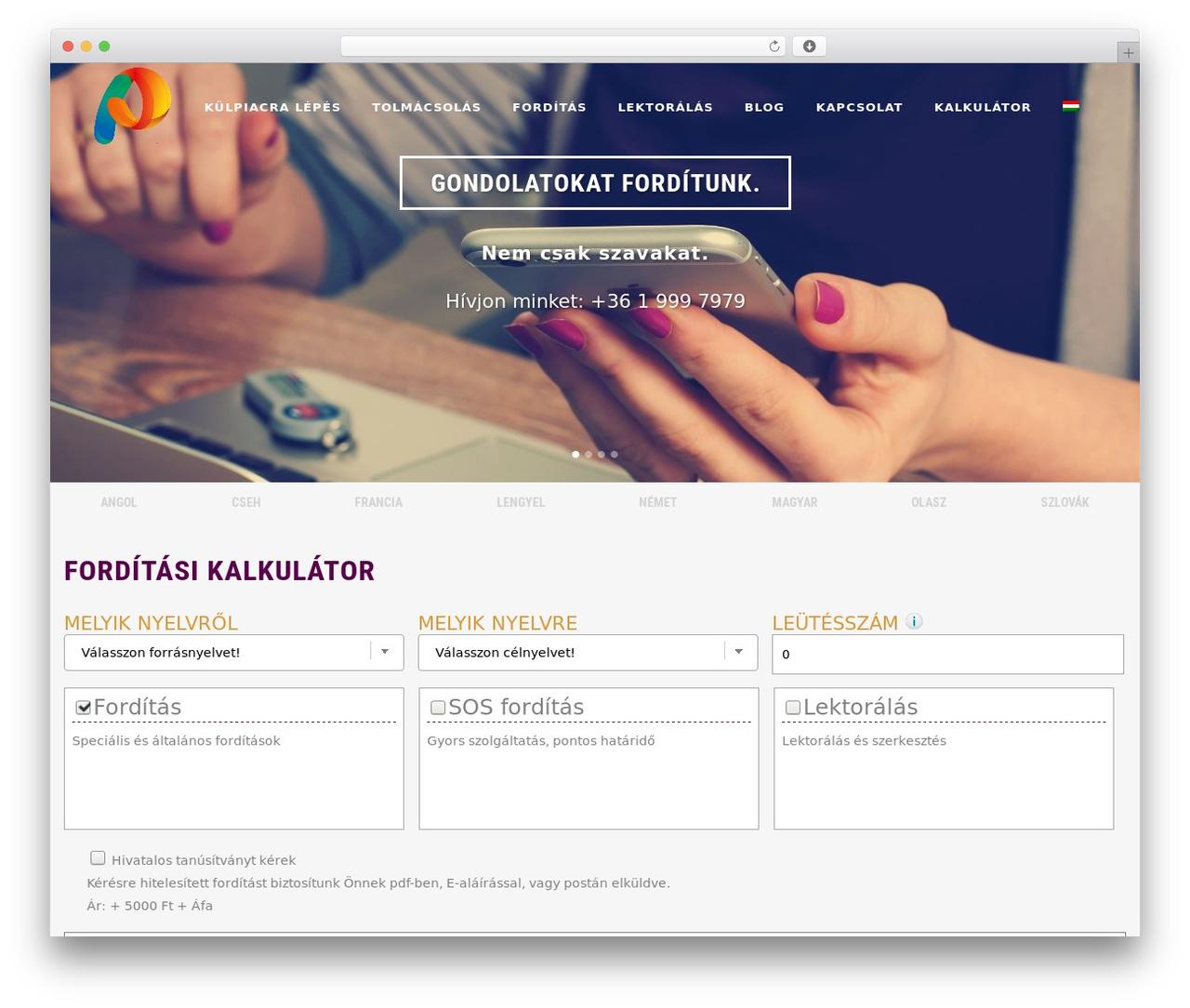 Theme WordPress Bridge - pentalingua.com