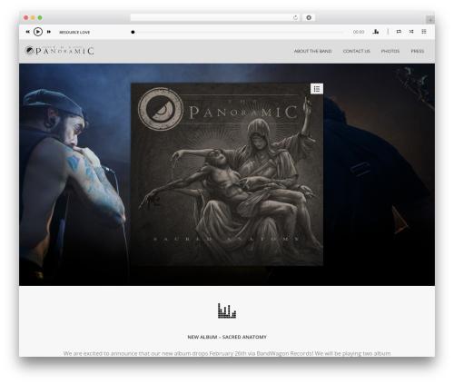 WordPress theme Album - thepanoramicmusic.com