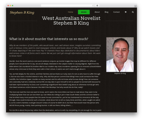 Avada theme WordPress - stephen-b-king.com