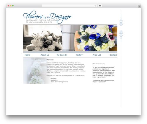 BLANK Theme WordPress theme - flowersbythedesigner.com