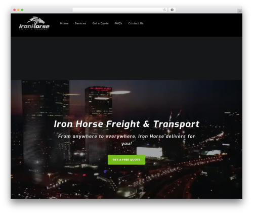 Businessx WordPress theme - ihfreight.com