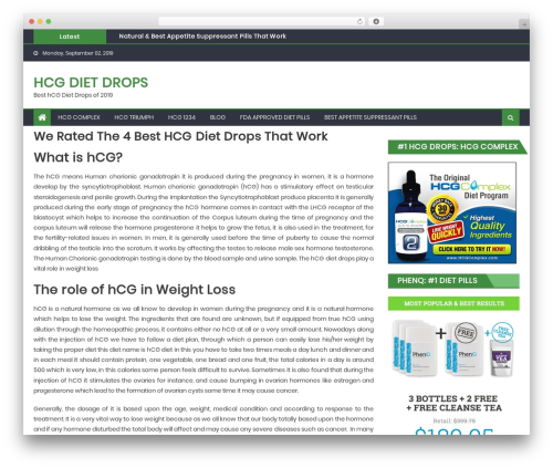 Eggnews free WP theme - hcgdietdropsite.com