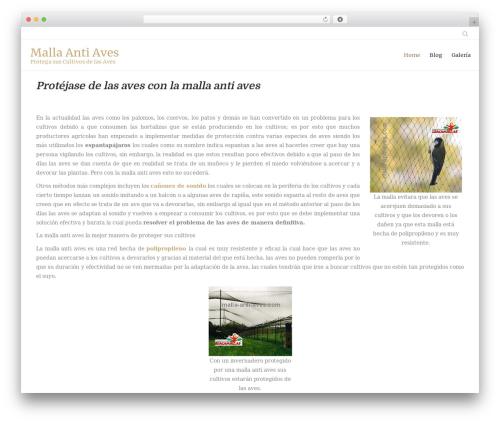 Honos WordPress theme design - malla-anti-aves.com