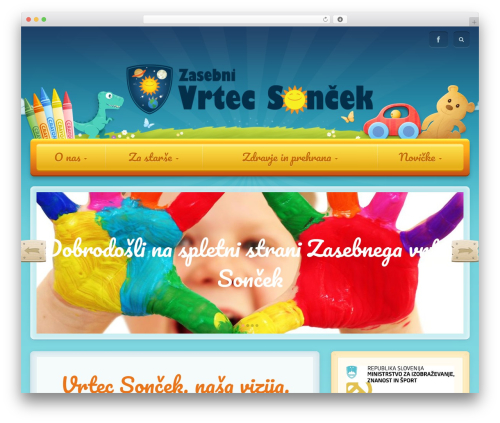 Toddlers best WordPress theme - vrtecsoncek.com