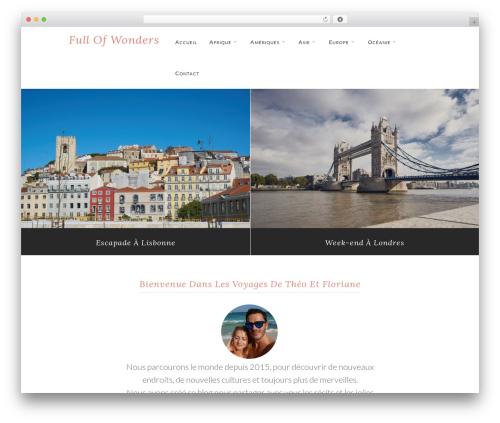 WPVoyager WordPress website template - full-of-wonders.com