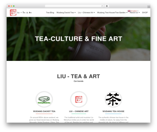 Zerif Lite WordPress theme - liu-tea-art.com