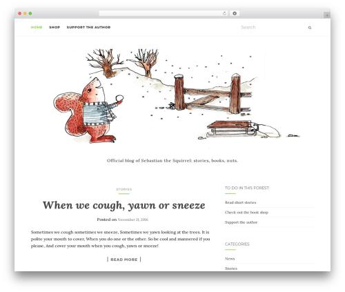 Activello WordPress theme download - sebastianthesquirrel.com