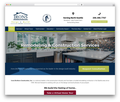 Responsive free website theme - ironsbc.com