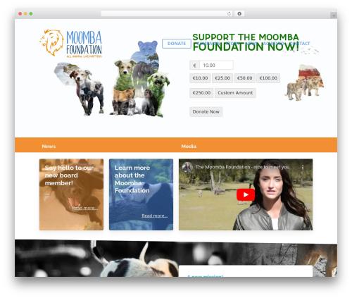 Salient WordPress page template - moombafoundation.com