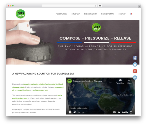 WordPress theme Jupiter - dityspray.com