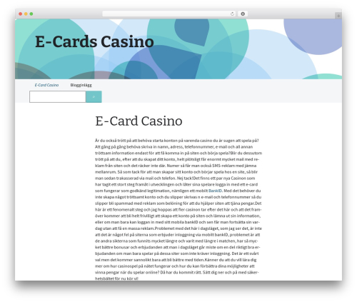 WP theme 2013 Blue - ecardscasino.com