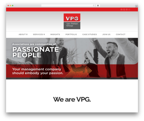 X WordPress template for business - vanpettengroup.com