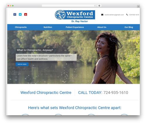 Best WordPress template Health-Center-Pro - wexfordchiropractic.com