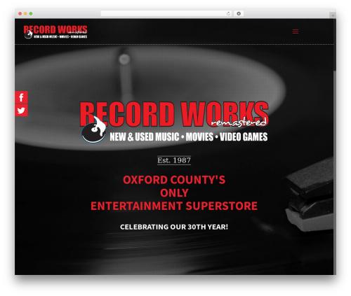 Betheme WordPress ecommerce theme - therecordworks.com