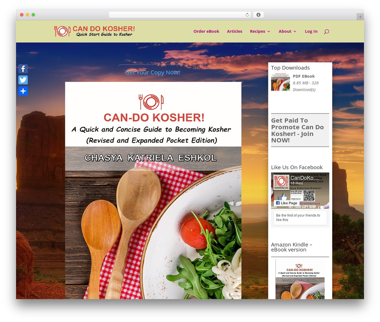 Divi WordPress theme - candokosher.com