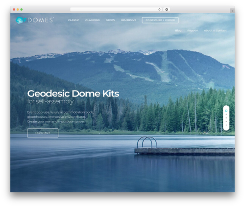 Salient WordPress page template - geodesic-domes.com