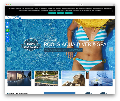 WordPress website template SwimmingPool - piscinasaquadiver.com