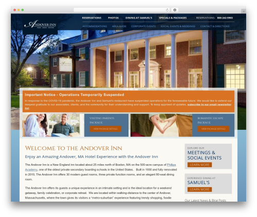 (a)n Foundation WordPress page template - andoverinn.com