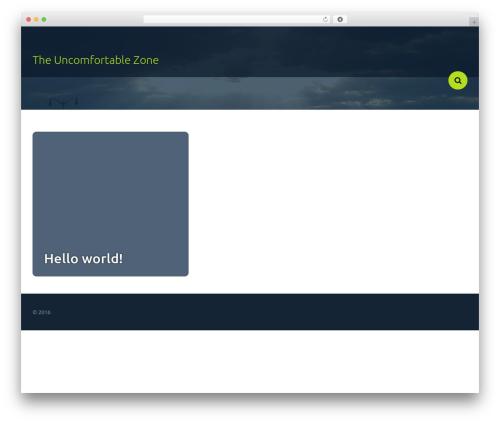 Frame Light template WordPress - theuncomfortablezone.com