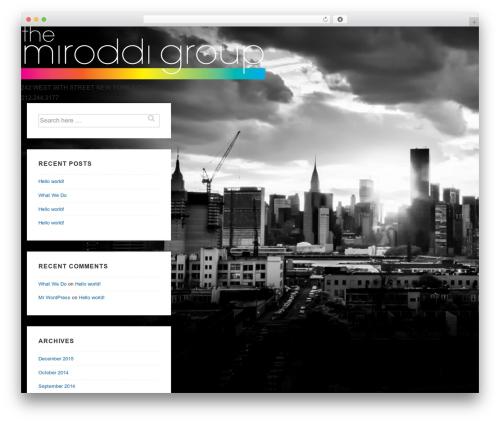 Responsive WordPress theme free download - miroddi.com