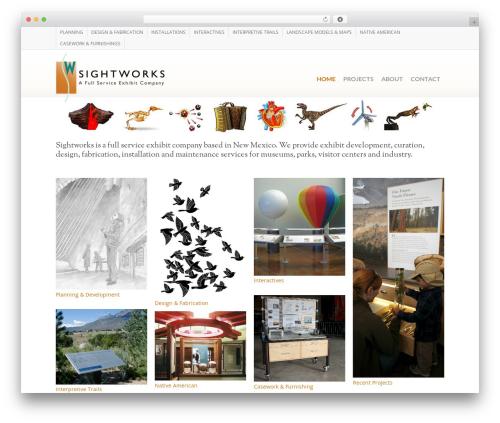 Salient WordPress page template - sightworksexhibits.com