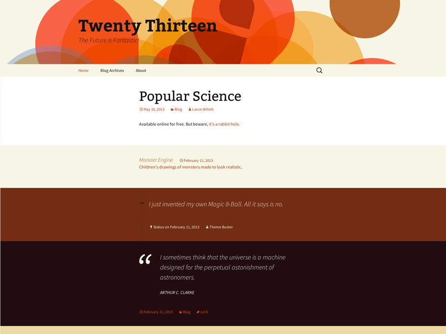 twenty_thirteen_child best WordPress theme