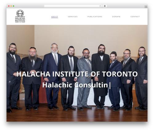 Best WordPress theme jupiter - halachainstitute.com