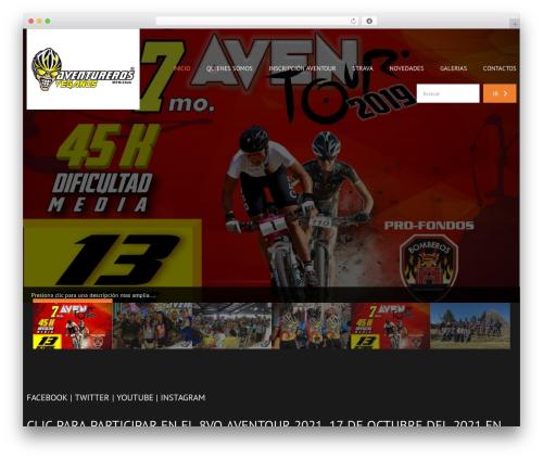 cherry theme WordPress - aventurerosveganos.com