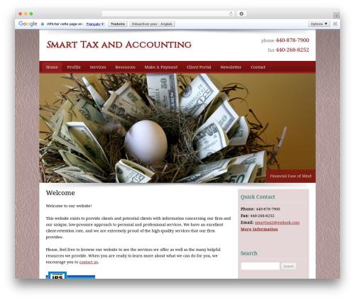 Customized WordPress theme - smarttaxandaccounting.com